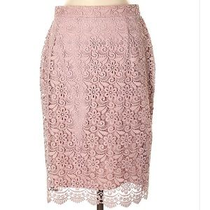 Uniqlo Pink Lace Pencil Skirt M